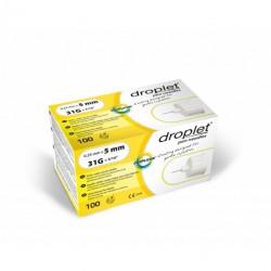 Igły do penów insulinowych Droplet 31G 0,25 x 5mm 100 sztuk